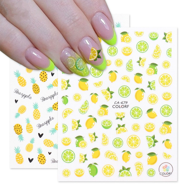 Beauty Makeup, nail decals, art, Colorful