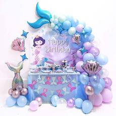 mermaidtheme, happybirthday, Tail, balloongarland