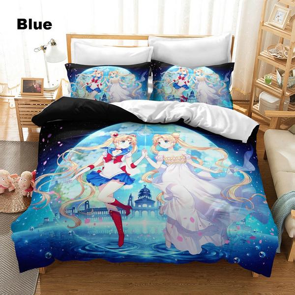 Janpese Anime Sailor Moon Pattern, Sailor Moon Bedding Queen
