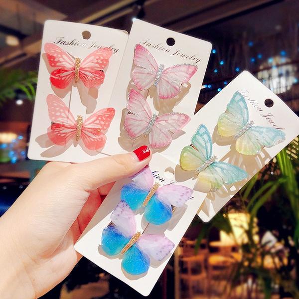 butterfly, Beautiful, Hair Clip, headbandsbowsclip