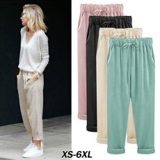 drawstringpant, Summer, trousers, wideleg