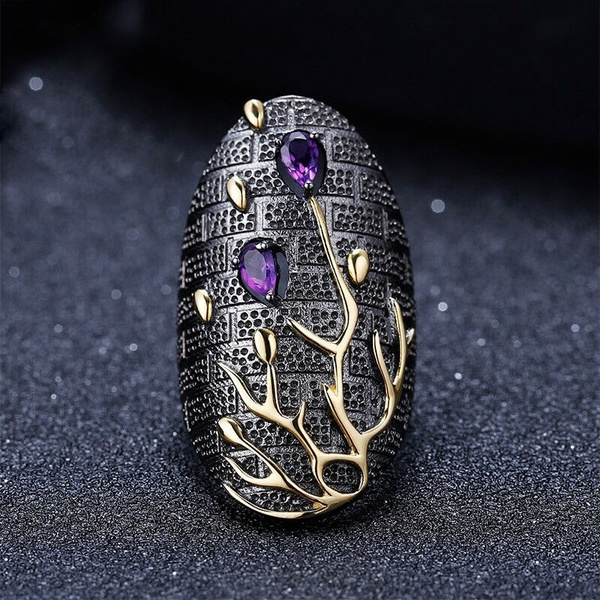 blackgoldring, Sterling, wedding ring, 925 silver rings