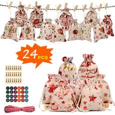 elk, Christmas, Gifts, Bags