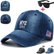 Adjustable Baseball Cap, Outdoor, Sport, Denim