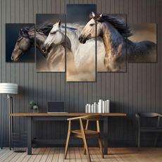 Home & Kitchen, horse, Wall Art, horsecanvasoilpainting