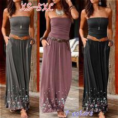 slim dress, Plus Size, solidcolordre, Ladies Fashion