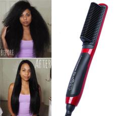 beardstraightener, haircomb, Ceramic, Electric