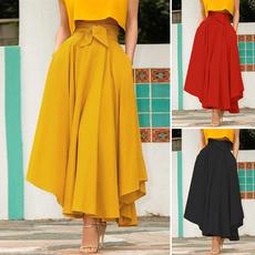 Summer, long skirt, Waist, Zip