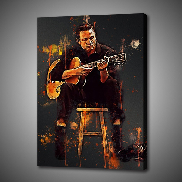 decoration, canvasprint, johnnycash, Wall Art