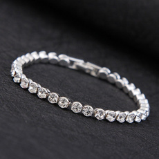 Sterling, Crystal Bracelet, Temperament, DIAMOND