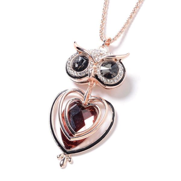 Owl, Fashion, Glass, Pears