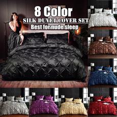 silkbeddingset, Bedding, duvetcoverset, satinbedsheet