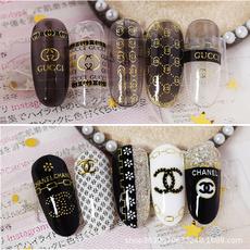Nails, Fashion, art, gold