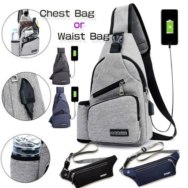 Shoulder Bags, Outdoor, Capacity, usb