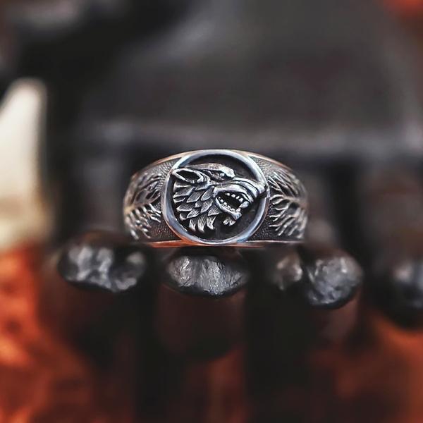 viking, men_rings, gamethrone, Stainless Steel