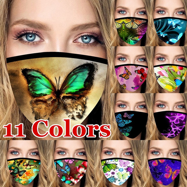 butterfly, maskforadult, Cotton, facemaskcover