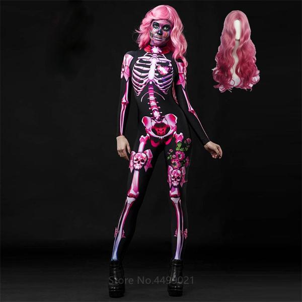 wig, womencosplaycostume, horrorcostume, Skeleton