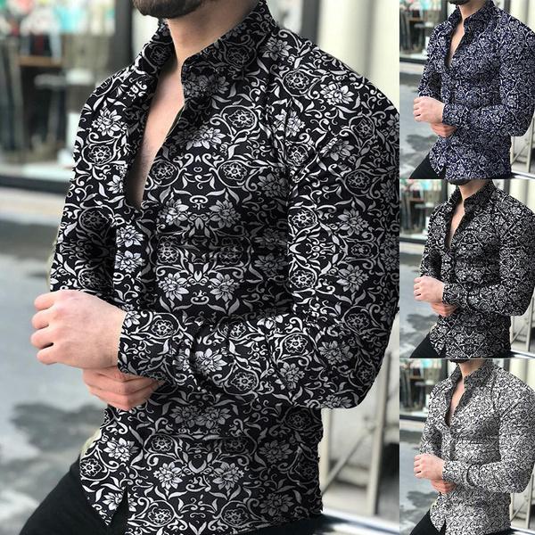 Fashion, Floral print, Shirt, partyshirt