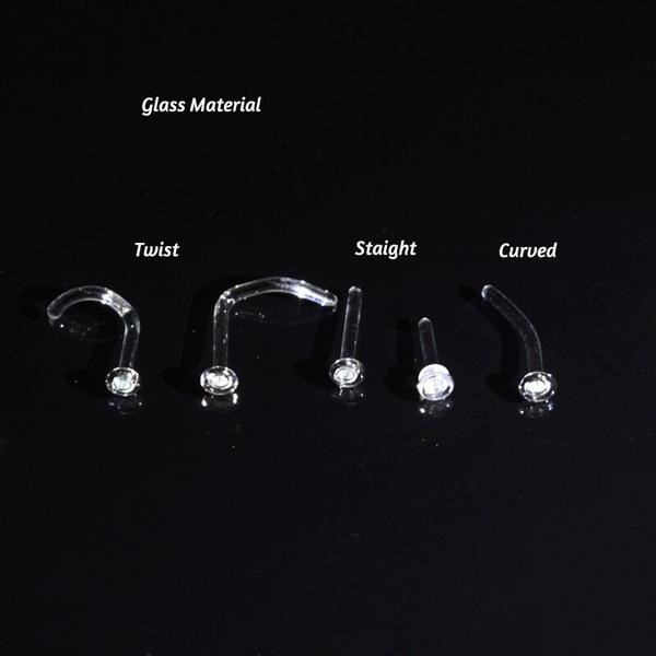 glassjewelry, noseretainer, Jewelry, women earrings