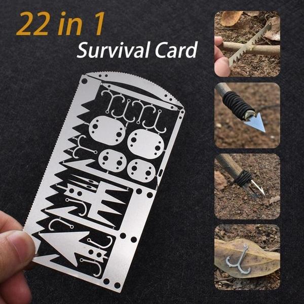 survivalcard, Steel, outdoorcampingaccessorie, hikingtool