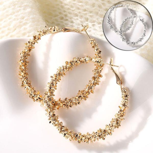 Hoop Earring, gold, Office, gold hoop earrings