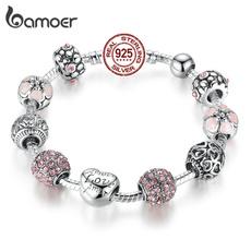 Charm Bracelet, Sterling, Silver Jewelry, Love
