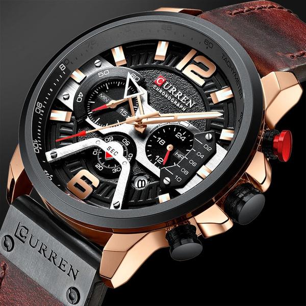 subdialswatchmen, Chronograph, quartz, Men Sports Watches