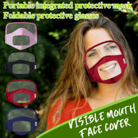 Face-Covering with Clear Window Visible Expression for The Deaf and Hard of Hearing for Kids Boys Girls Children 1PC//4PC Disposable Mouth Face Shield
