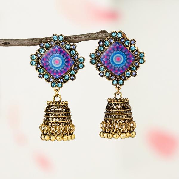 printedearring, Jewelry, vintage earrings, Bell