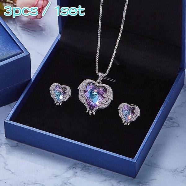 Heart, crystal pendant, Fashion, Angel