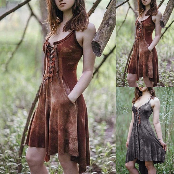 womens dresses, halter dress, Medieval, dressesforwomensummer