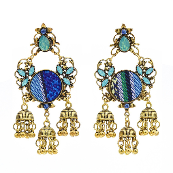 designearring, colorrhinestoneearring, Jewelry, Colorful