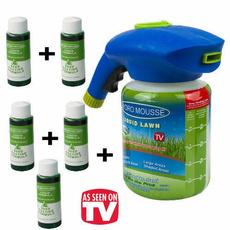 Lawn, nursing, liquid, seedling
