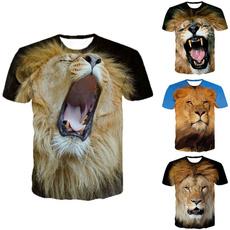 Summer, Plus Size, tshirt men, animal print