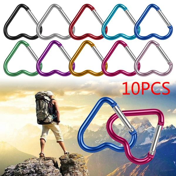 Accessories Keychain Clip Aluminum Carabiner Keyring Hook Heart-shaped Buckles