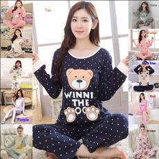 cutepajamaslongsleeved, women's pajamas, cartoonlongsleevedpajama, Sleeve
