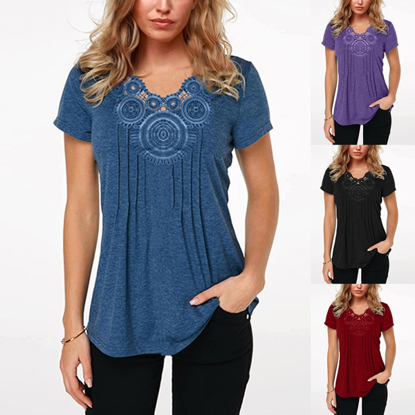 Summer, Plus Size, tunic, Lace