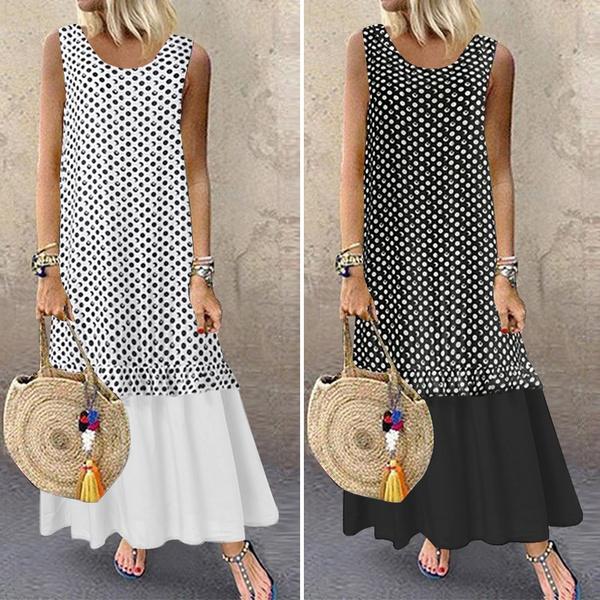 Sleeveless dress, Plus Size, vest dress, tankdres