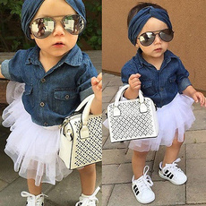 Baby, Summer, 3pc, denimtulle