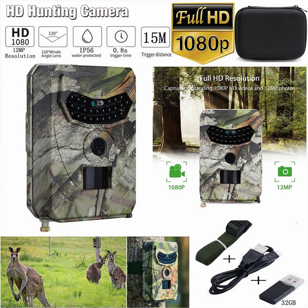 1080P 12MP Hunting Trail Camera Infrared Night Vision Wildlife Scouting Camera