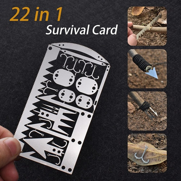 survivalcard, Outdoor, hikingtool, Hunting