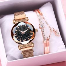 quartz, casualwatchesforwomen, Bracelet Watch, magneticwatchwomen