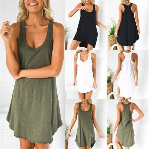 Summer, Vest, Plus Size, Dress