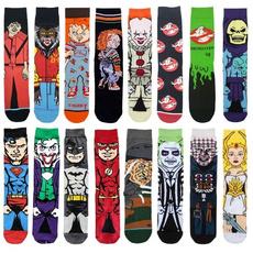 Funny, womensock, Superhero, Skateboard