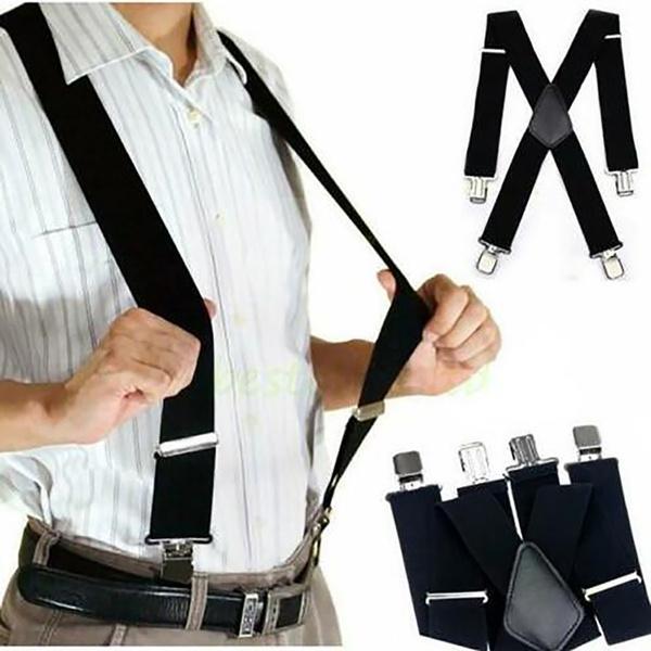 suspenders, elasticslimsuspender, Elastic, leather