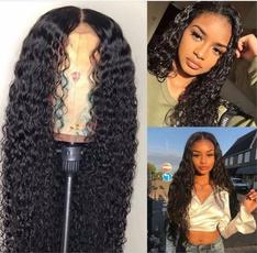 wig, Black wig, Lace, human hair