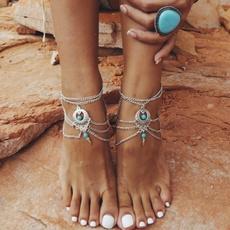 Tassels, Sandals, barefoot, Anklets