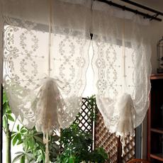 embroideredromancurtain, halfcurtain, Home Decor, balconycurtain