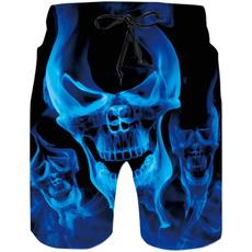 Blues, tunk, Shorts, skull