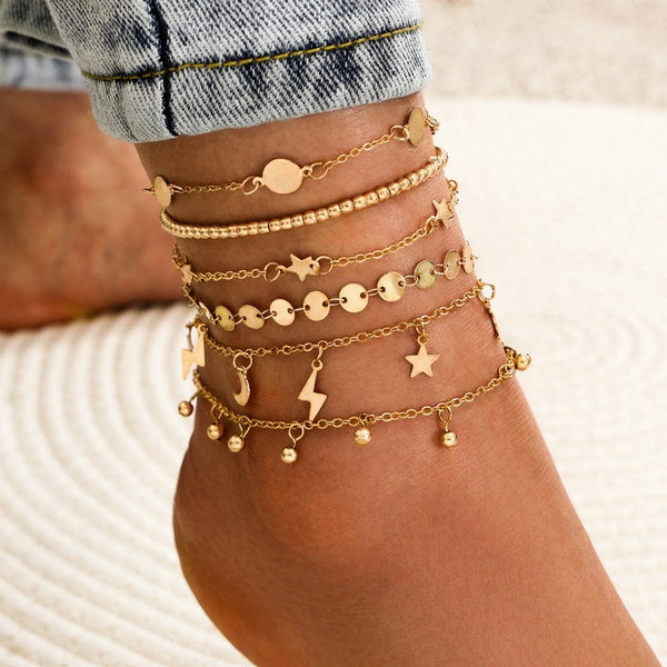 Vintage, Fashion, Star, Anklets